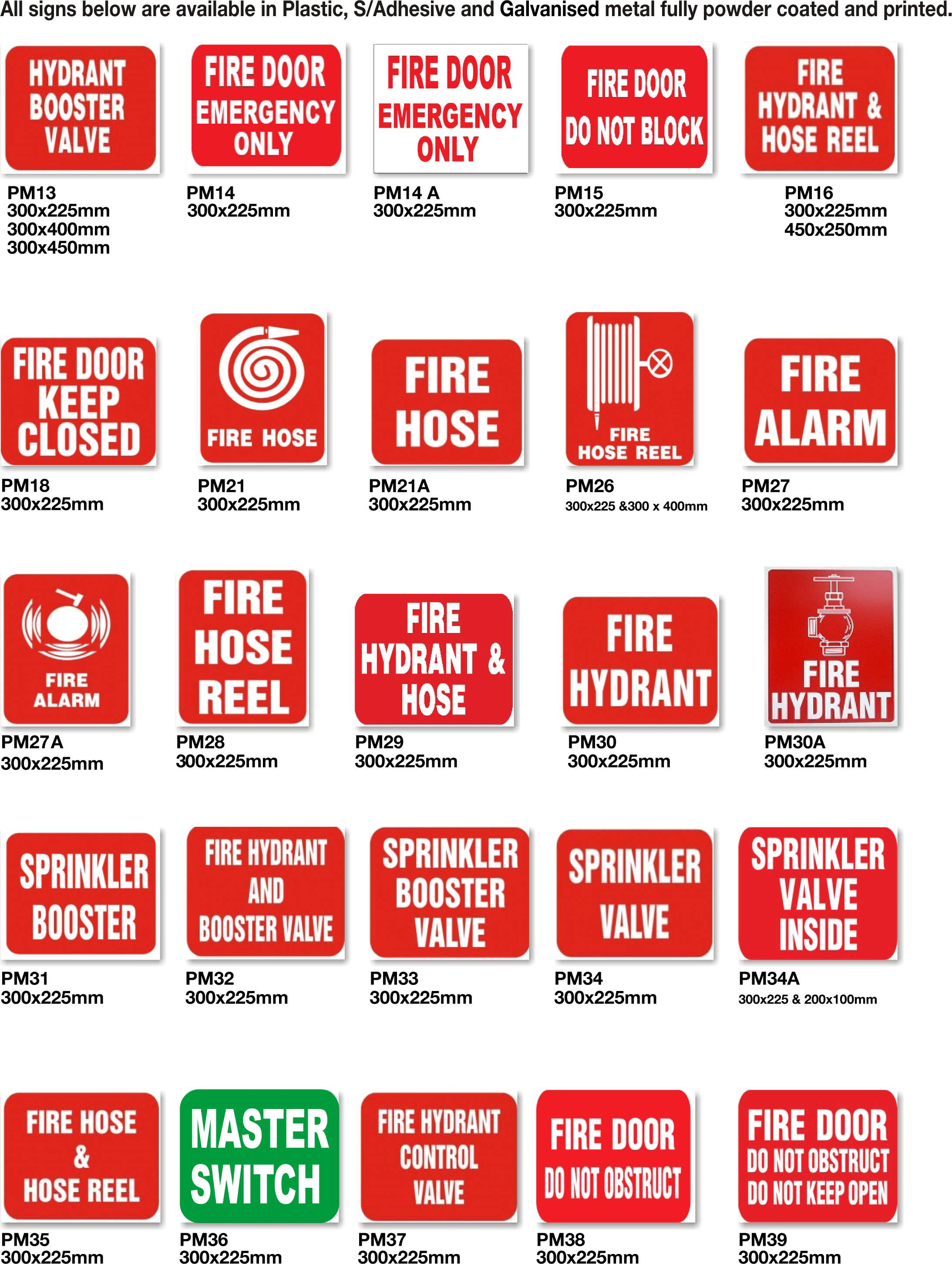 fire extinguisher signs fire door signs fire safety signs